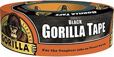 """Gorilla Tape ~ Heavy-duty and double thick, Black Gorilla Tape is like duct tape on steroids. This is what you will reach for when you have a situation where you need to hold together rough, uneven and unforgiving surfaces like wood, stone, stucco, plaster—even brick. This tough tape is reinforced, weather-resistant, and holds up through extreme temperatures. No wonder it's got """"gorilla"""" in its name. This stuff is super strong and extra sticky so do not adhere to a painted surface! Preppers List, Gorilla Tape, Survival Items, Survival Prepping, Grey Stuff, That Way, Iowa, Indoor Outdoor, El Paso"""
