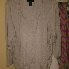 Sweater Grey sweater by Lane Bryant Lane Bryant Sweaters Crew & Scoop Necks