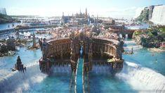 Image result for fantasy castle floating island
