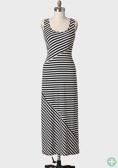 Greenwich Striped Curvy Plus Maxi Dress at #Ruche @shopruche