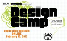 One of those can't miss opportunities for middle school and high school students to learn more about DESIGN at a summer camp specifically for K-12! Learn about all different disciplines including architecture, landscape architecture, graphic design, industrial design, design studies, art + design and more!