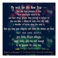 My Wish For The New Year