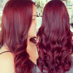Beautiful red violet hair color!