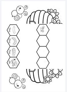 Diy And Crafts, Crafts For Kids, Bee Theme, Bee Happy, Interactive Notebooks, Life Skills, Little Ones, Worksheets, Activities For Kids