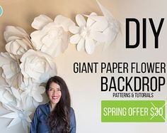 Giant Paper Flowers - Patterns and video tutorials
