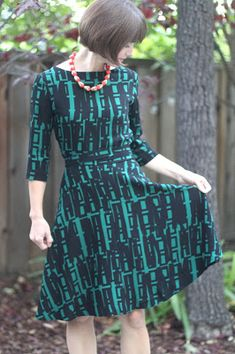 Nicole at Home: Reversible wrap dress in stretch rayon