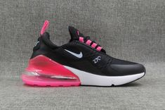 241c6321c New Nike Air Max 270 Flyknit Women Black White Pink On Sale