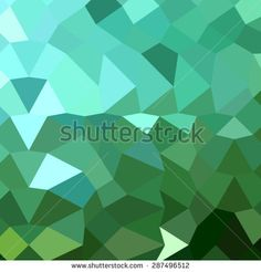 Low polygon style illustration of dartmouth green abstract geometric background.