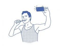 Selfie while brushing teeth || Image Source: http://www.mindful.org/sites/default/files/miscellaneous/IPTECH.png