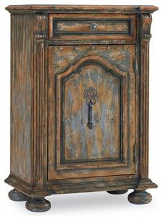 One-Door One-Drawer Chest with Bun Feet - traditional - dressers chests and bedroom armoires - Benjamin Rugs and Furniture