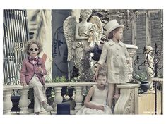 Great fantasy Venetian kids fashion shoot by French photographer Gerard Harten