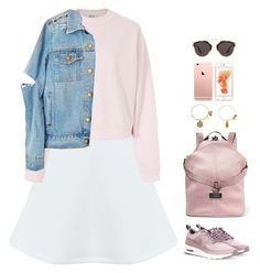 """""""#2744"""" by azaliyan ❤ liked on Polyvore featuring Miss Selfridge, Acne Studios, NIKE, adidas, Alex and Ani and Christian Dior"""