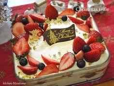 ビスケットで☆トライフルクリスマスケーキの画像