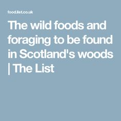 The wild foods and f