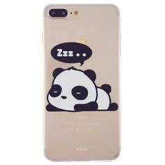 CaseBee - Cute Sleeping Panda Print iPhone 7 (4.7) Case - Perfect Gift (Sleeping Panda). Form-fitting case designed to perfectly fit your iPhone 7 (4.7). Simple soft clear TPU case, perfectly secure your device and easy access to all buttons, sensors, and ports. Full access to user interface, camera lens, headphone jack, speakerphone and microphone. Allows charging without removing the case. Designed and manufactured exclusively by CaseBee.