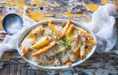 גראטן תפוחי אדמה ובטטה ( צילום: דני לרנר, סגנון: פסי ברניצקי )