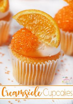 These creamsicle cupcakes are amazing! The perfect, unique dessert!