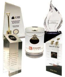 lucite paperweights and acrylic plaques http://www.lucitetombstones.com/