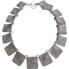 Modernist/Constructionist Solid Sterling Silver Necklace