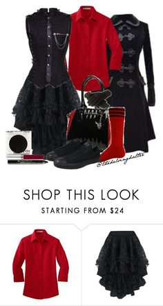 """""""Bleeding Hearts"""" by thehelsinghatter ❤ liked on Polyvore featuring Converse, NYX and Anastasia Beverly Hills"""