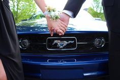 The amazing shot I got today of my sister and her boyfriend before prom! #prom #mustang #photography #cars #corsage