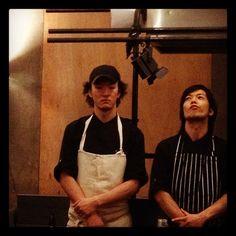Chef Hiroki Yoshitake du restaurant Sola, basé à Paris 5 et auteur du foie gras et des Saint-Jacques.