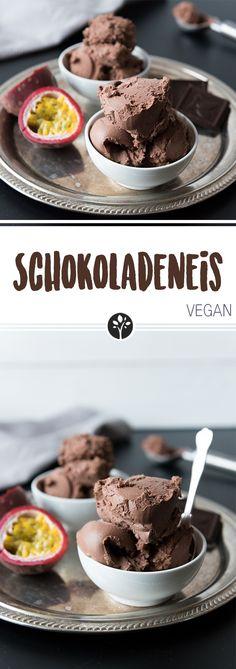 Schokoladeneis #vegan, mit oder ohne Eismaschine! Auf www.eat-vegan.de