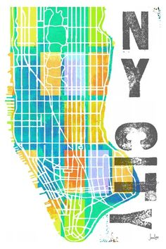 NY City Canvas Wall Art by Jen Lee Art on @HauteLook $89-279