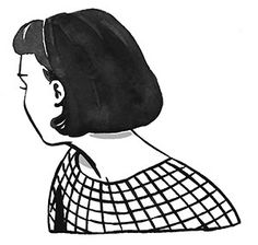 I like the simplicity of this piece. It has a stark contrast of black and white. Yet because it's watercolor it's soft in some places and has a sketchy feel. The subject is also looking away, making me curious as to what she's looking at.