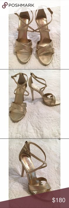 Lily Pulitzer Gold Strappy Heels Lilly Pulitzer metallic gold strappy heels size 8. Heel height is probably 4 1/2. Never worn!! These shoes are the most perfect, classic gold sandal! I bought them for $198.00. Selling for $180. Lilly Pulitzer Shoes Heels