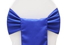 Lamour Satin Chair Sash - Royal Blue ● As Low as $0.79
