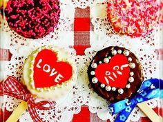 ビスケットで♡可愛いバレンタインチョコの画像