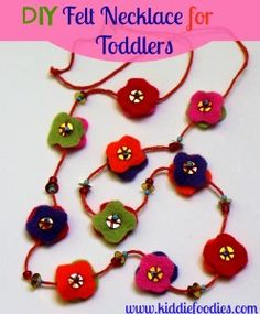 DIY easy and cute felt necklace for toddlers - Kiddie Foodies