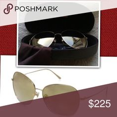 NEW Michael Kors gold aviator style New with case, cleaning cloth & info booklet Michael Kors Accessories Sunglasses