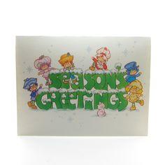 Season's Greetings Strawberry Shortcake holiday card