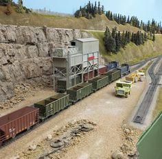 Video: Building Model Railroader's Winter Hill Quarry Branch, part 1 N Scale Model Trains, Model Train Layouts, Scale Models, Train Miniature, Miniature Cars, Escala Ho, Stone Quarry, Train Room, Ho Trains