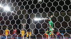 Jorge Valdivia of Chile shoots and scores