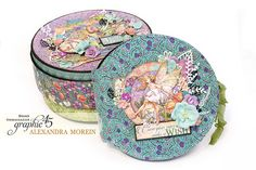 Hello, G45ers! Today we have Brand Ambassador Alexandra Morein here with her fabulous Fairie Dust  Handmade Box & Album. We love the clean finishing and layered cover imagery. The round album is the perfect compliment, both functionally and aesthetically. Check it out below.  Weekly Blog Con