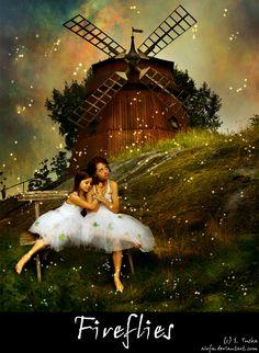 Fireflies by ~Aiofa on deviantART