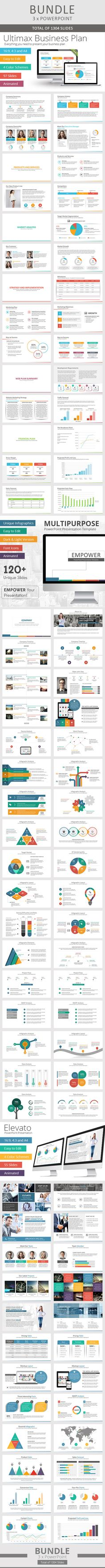 3 x Multi-Purpose PowerPoint Bundle - Total of 1304 slides!