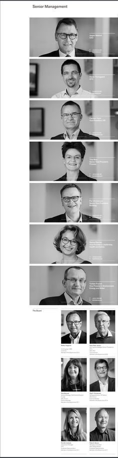 corporate team bios #webdesign #UI