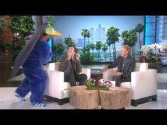 Ellen Scares Jimmy Fallon During a Promo - YouTube