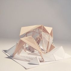 conceptmodel: Shelter Path model by Store front geometry.experiment with this shaping Folding Architecture, Concept Models Architecture, Architecture Model Making, Pavilion Architecture, Architecture Design, Therme Vals, Instalation Art, Shelter Design, 3d Modelle
