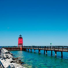 South Pier Lighthouse, Charlevoix, Michigan