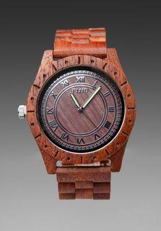 Flud Big Ben Redwood watch. Urban outdoorsman accessory.