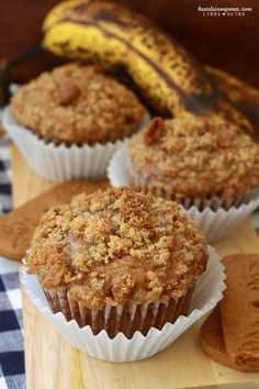 Hearts in My Oven: Banana Biscoff Muffins
