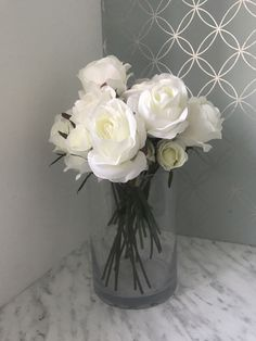 Excited to share the latest addition to my #etsy shop: Artificial Fake Rose Ivory White Arrangement Large Silk Home Decor Blush Summer Faux Interior Bush Pastel Roses Flower Floral Design Living Pastel Roses, Ivory Roses, Tree Of Life Necklace, Ivory White, Contemporary Design, Floral Design, Blush, Vase, Etsy Shop
