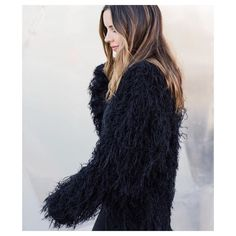 Oversized Shaggy Black Cardigan Shaggy sweater cardigan. Unlined. Imported. Black. Label is Cotton Candy. Nasty Gal Sweaters Cardigans