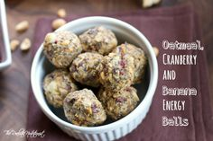 Oatmeal, Cranberry & Banana Energy Balls