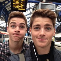 The twins in Brighton!